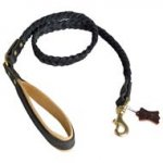 Select Braided Leather Leash 48'' for Cane Corso