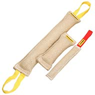 Compact Bite Training Set - 3 Jute Bite Tugs of Different Size for Training Cane Corso