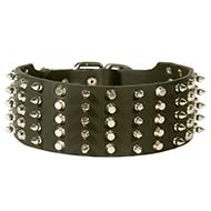 3 inch Spiked and Studded Leather Cane Corso Collar