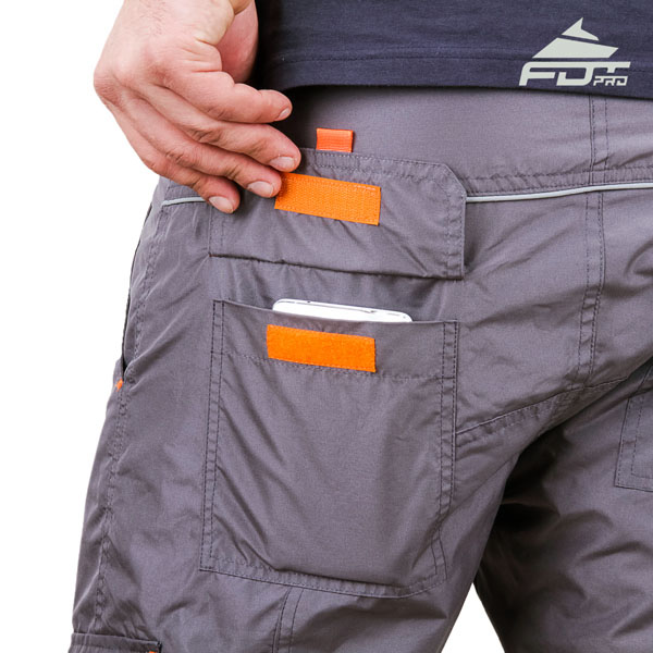 Comfortable Design Professional Pants with Strong Side Pockets for Dog Training