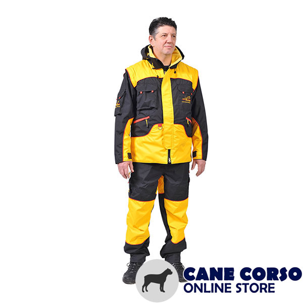 Dog Bite Suit of Water Resistant Membrane Fabric for Training