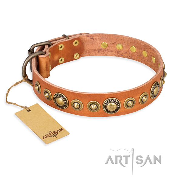 Quality genuine leather collar crafted for your dog