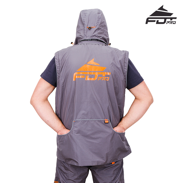 Reliable Dog Training Suit of Grey Color from FDT Wear