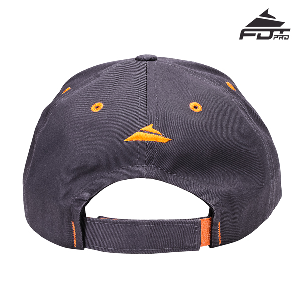 Dog Walking Easy Adjustable One-size Snapback Cap Dark Grey Color