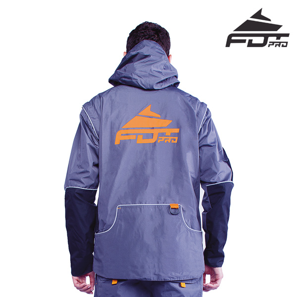 FDT Pro Dog Tracking Jacket Grey Color with Comfortable Side Pockets