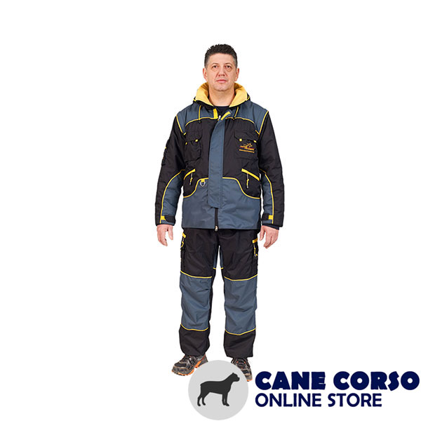 Weatherproof Bite Protection Suit of Membrane Fabric for Dog Training