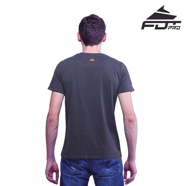 Men T-shirt Dark Grey Pro for Dog Trainers