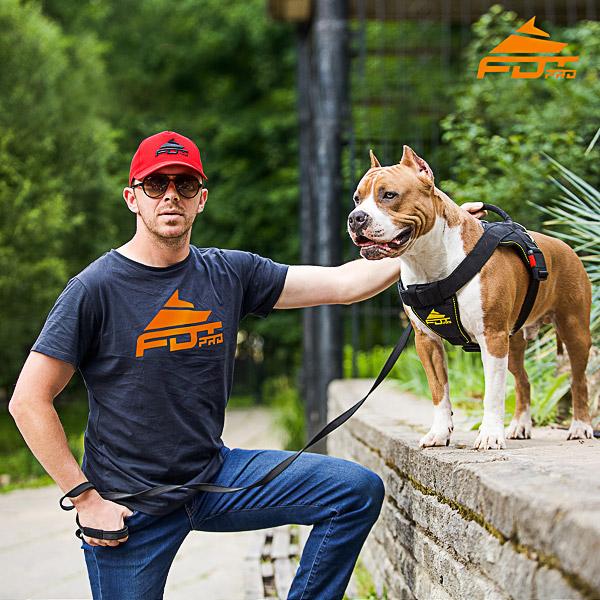 Men T-shirt of Durable Cotton with Professional Logo for Dog Trainers