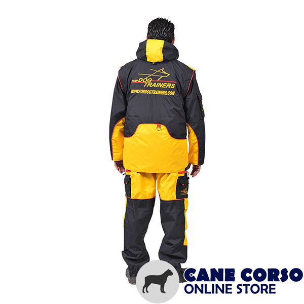 Membrane Material Training Suit with a Number of Pockets