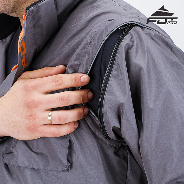 Best quality Zipper on Sleeve for Professional Design Dog Tracking Jacket