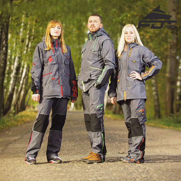 Top Notch Dog Trainer Suit for Tracking with Reflective Trim