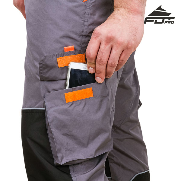 Durable Velcro Side Pocket on Pro Design Dog Trainer Pants