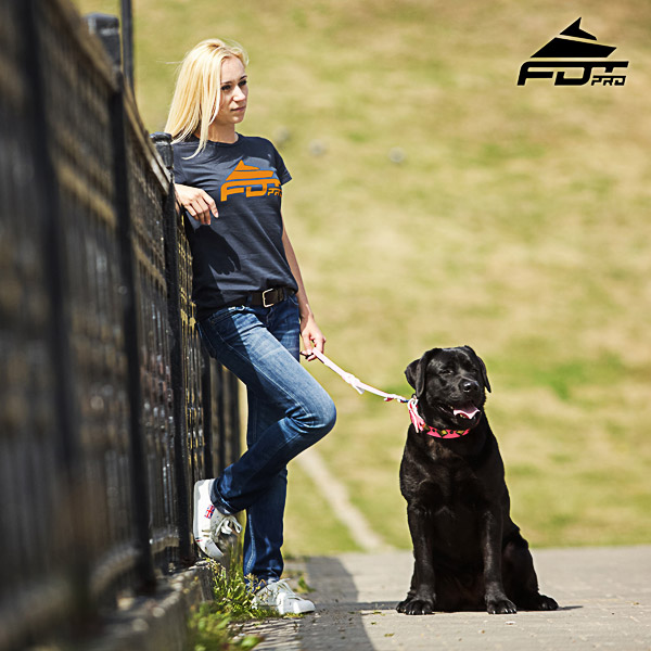 Women T-shirt of Quality Cotton for Dog Trainers