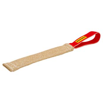 Safe bite jute tug for training