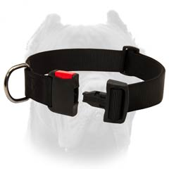 Easy Adjustable Nylon Collar for Cane Corso