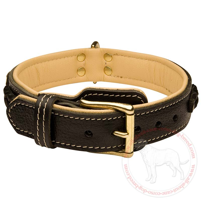 Large Breed Leather Dog Collars