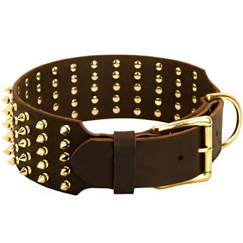 Extra Wide Spiked Collar for Large Dogs
