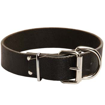 Cane Corso breed leather dog collar smooth