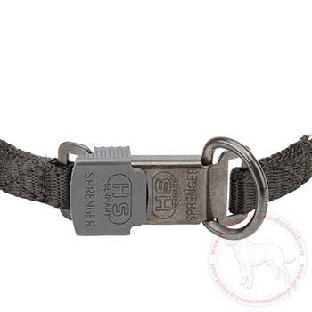 Click lock buckle of Cane Corso pinch collar