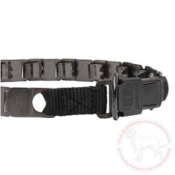 Strong click lock buckle of neck tech collar for Cane Corso