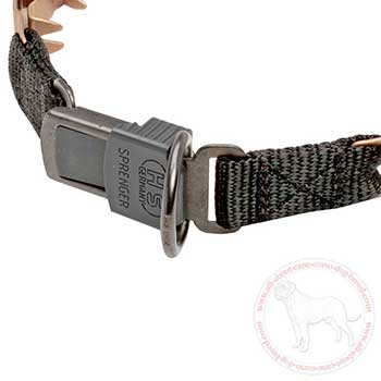 Click lock buckle of neck tech dog collar