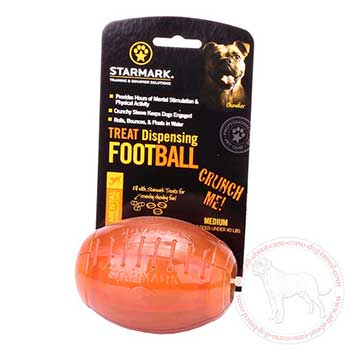 Everlasting dog treat dispensing football for Cane Corso