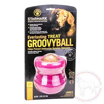 Large dog treat groovy ball for Cane Corso