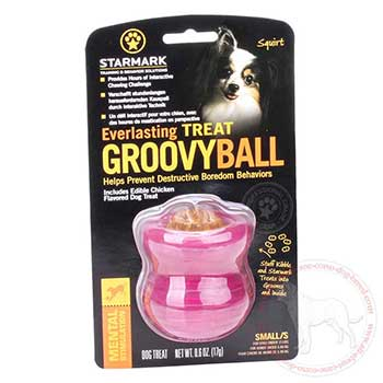 Dog safe treat groovy ball for Cane Corso