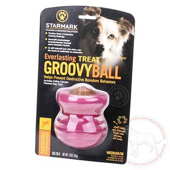 Medium treat groovy ball for Cane Corso