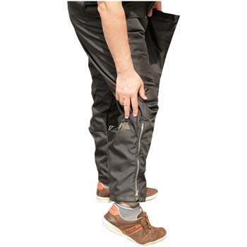 Protection nylon scratch pants padded on legs and front