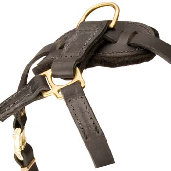 Non-restrictive fashion leather harness