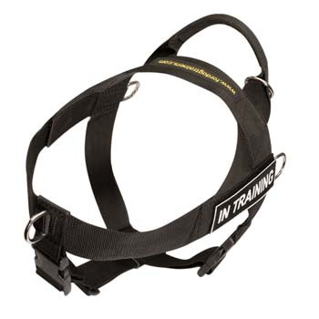 Adjustable nylon dog harness for large and powerful  dogs