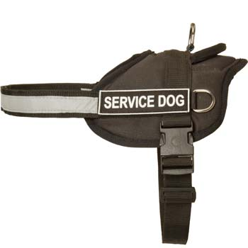 Nylon dog harness for Mastino Napoletanos's K9, police,  SAR training