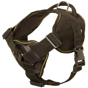 High quality nylon dog chest plate harness for powerful Mastino Napoletanos