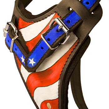 Painted in the USA Flag Colors Chest Plate