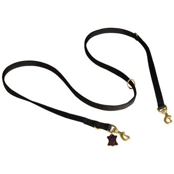 Nylon dog leash for Cane Corso tracking and pulling