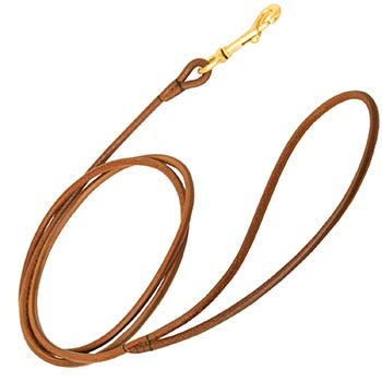 Ultra Narrow Leather Leash for Dog Shows