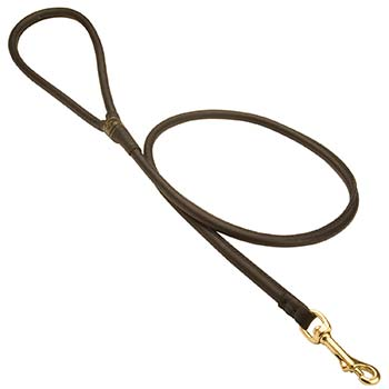 Round Leather Leash for Cane Coros Walking