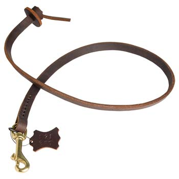 Cane Corso short leather leash with comfy handle