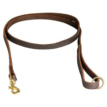 Cane Corso Leather Leash with Rust-proof Hardware