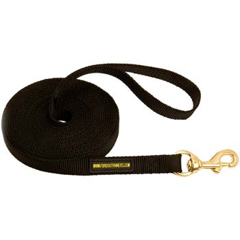 Cane Corso leash with brass hardware