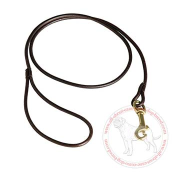 6 mm Wide Leather Leash for Cane Corso