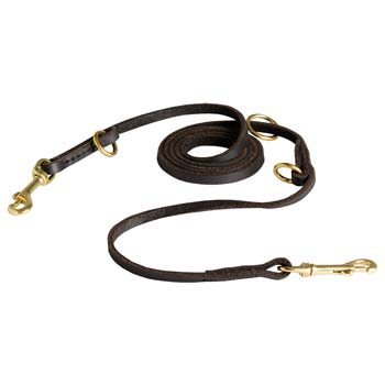 Leather Leash Can be Used as Coupler to Walk Two Cane Corsos