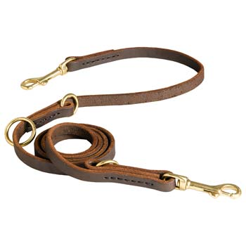 Quality Leather Leash for Comfortable Activity