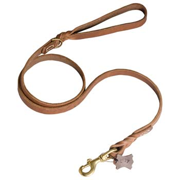 Cane Corso Leash with Stitched D-ring