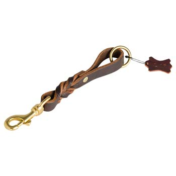Leather Dog Leash for Cane Corso with Brass Snap Hook and O-ring