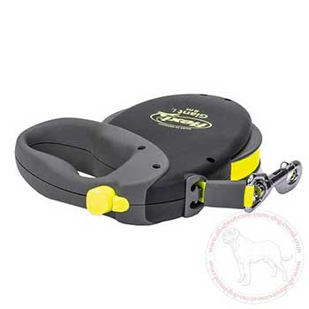 Retractable dog leash for Cane Corso with braking system