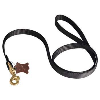 Dog nylon leash with double security lock