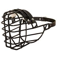 Strong Metal Wire Padded Basket Large Muzzle