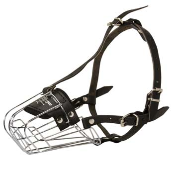Well-fitting cage wire dog muzzle